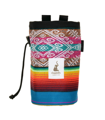 Multi Color Teal Ecuador Chalk Bag with Belt