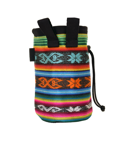Multi Color Ecuador Chalk Bag with Belt