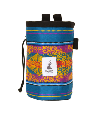 Teal Ecuador Chalk Bag with Belt