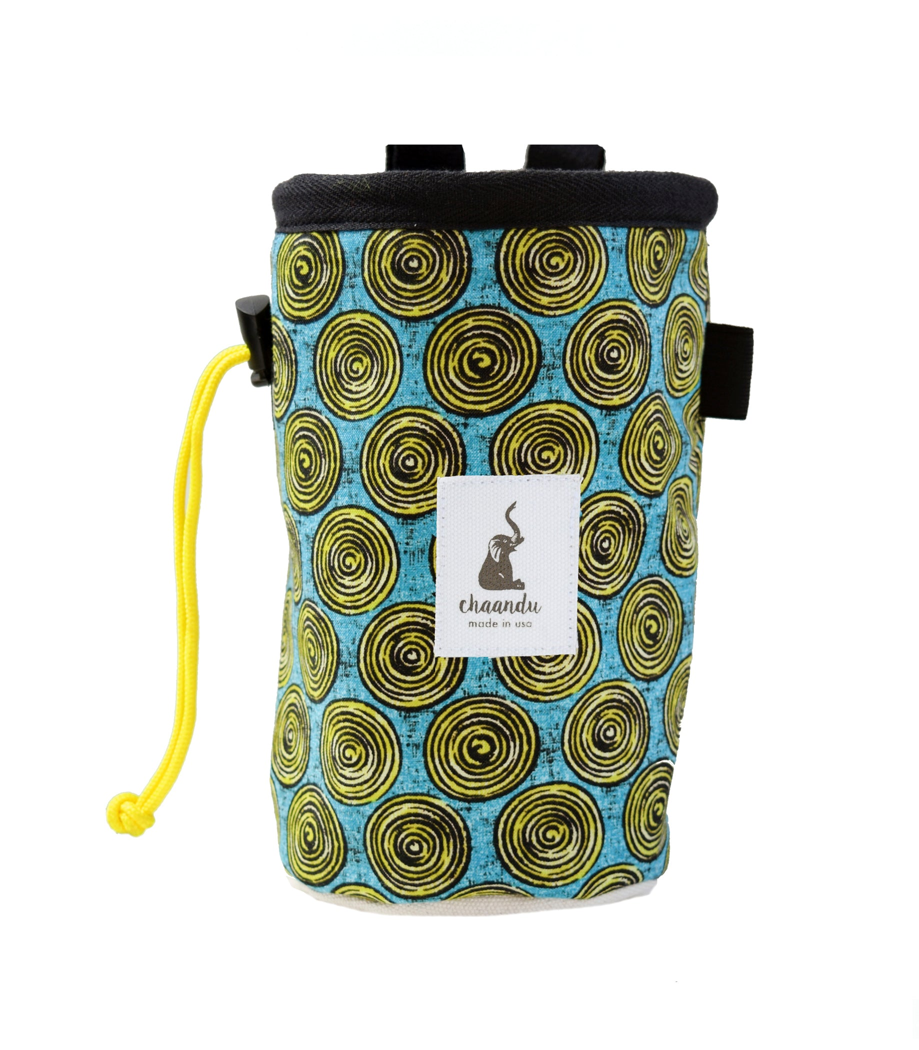 Yellow Swirling Chalk Bag with Belt