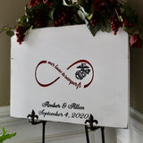 marine corps wedding guest book