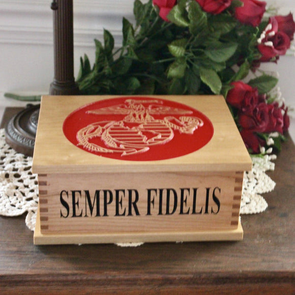 custom usmc keepsake box