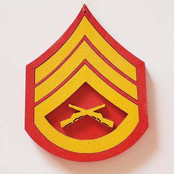 USMC chevron ornament