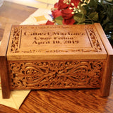 wood box urn for human remains