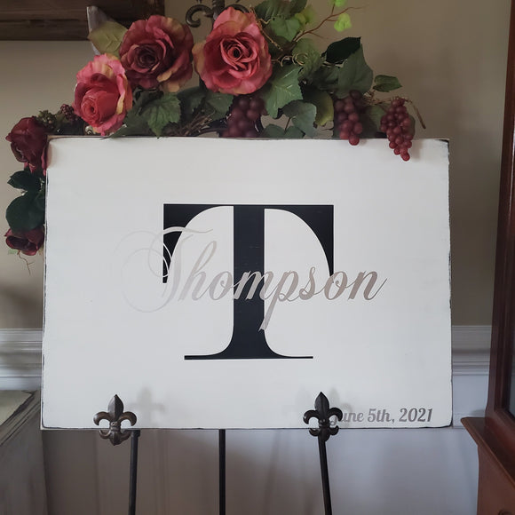 last name sign painted