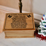 Memorial  Keepsake Box - I Thought Of You Today Quote on Handcrafted Wooden Box