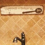 happiness is lickin the spoon wood sign