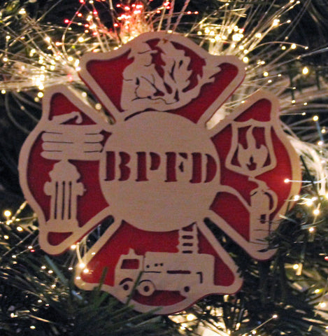 ornament for firefigner · christmas ornament for fireman · custom firefighter  ornament ... - Ornament For Fireman, Christmas Ornament For Firefigter Made Of Wood