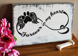Forever in my heart dog memorial sign, sympathy gifts for loss of pet