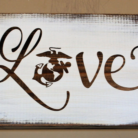 Love with EGA Rustic wall hanging