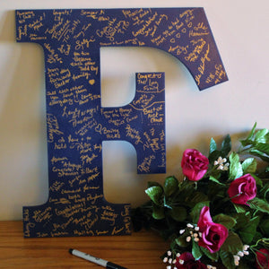 Wedding Letters Custom Wedding Guest Book Alternative Wood Letter