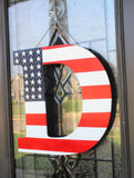 flag letter door hanger
