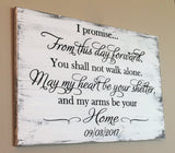 wedding vow sign