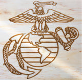 Proud USMC Mother of Marine Carved Wood Sign