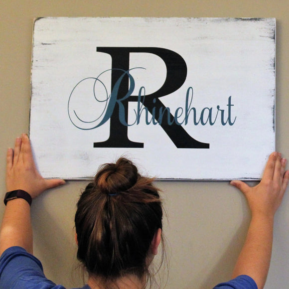 painted last name sign