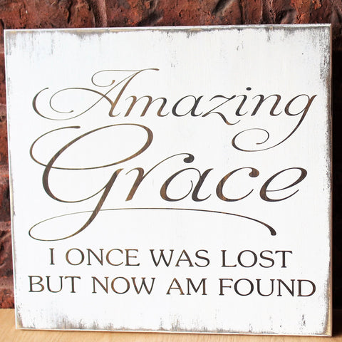 amazing grace sign & Amazing Grace Wall Art Hand Painted Wood Sign Gifts For Christian ...