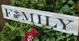 engraved wood sign military