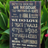 dog rescue sign