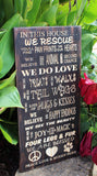 engraved rescue sign