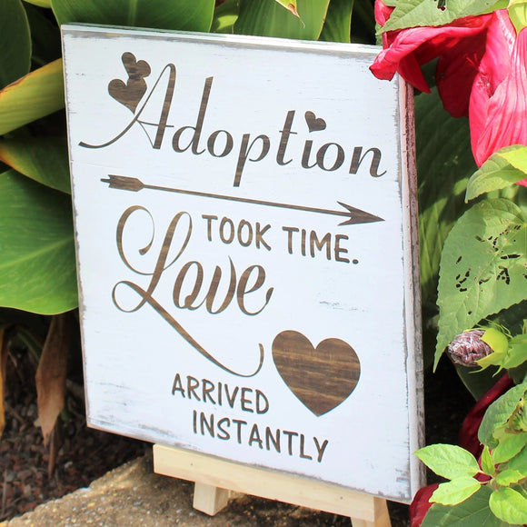 adoption took time sign