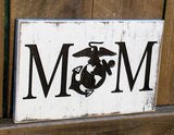 engraved mom military sign