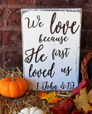 rustic bible verse art