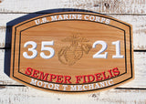 Marine Corps Carved MOS Plaque with painted letters, USMC Wall Art, Gift For The Marine