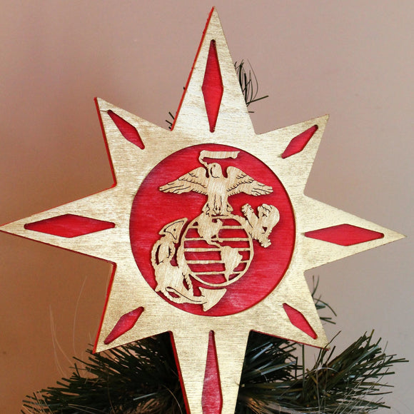 marine corps tree topper