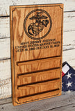 USMC Coin Holder, Personalized USMC, EGA Coin Display, Military Display Rack