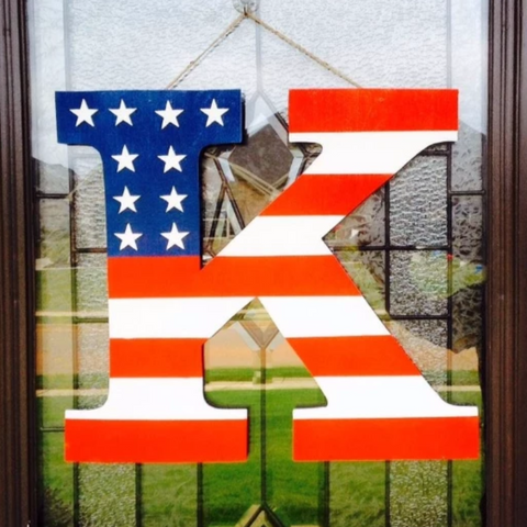 Patriotic Monogram Door Hangers