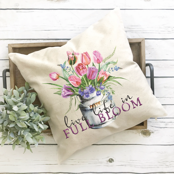 spring bouquet pillow