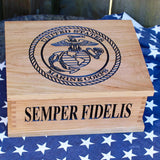 marine corps wood box