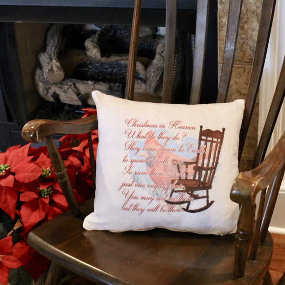 Christmas memorial throw pillow