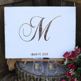 Wedding guest book alternative wooden sign for rustic wedding
