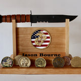 Personalized USMC boot camp graduation display