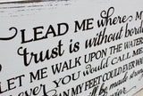 spirit lead me where my trust sign