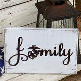 marine corps family sign
