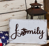 Family Sign Military