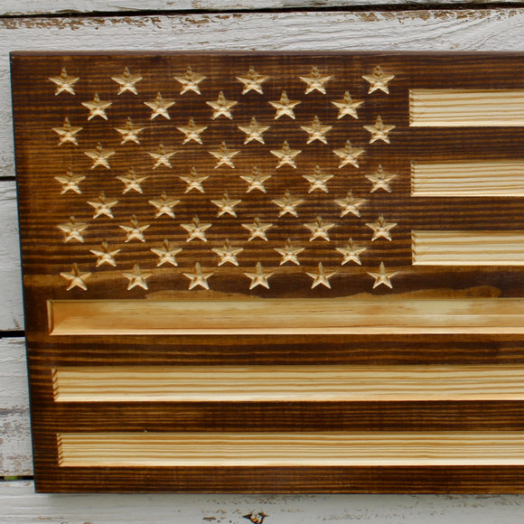 Rustic flag decor