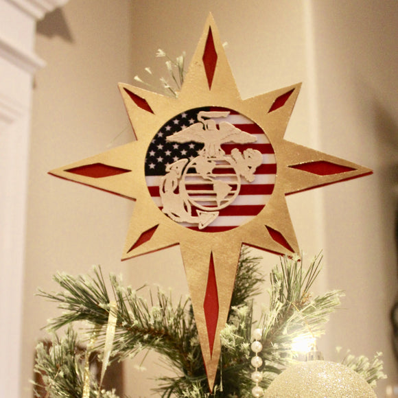 USMC christmas tree topper
