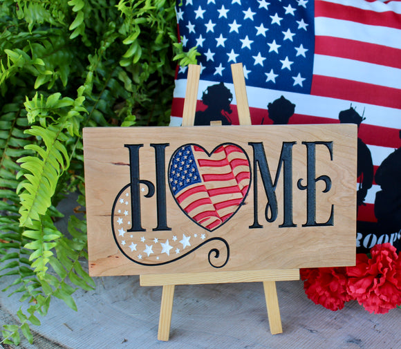 patriotic home sign