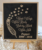 Personalized dog memorial sign