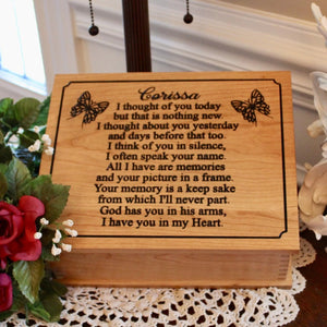wood cremation box