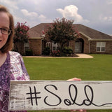 sold sign for real estate agent