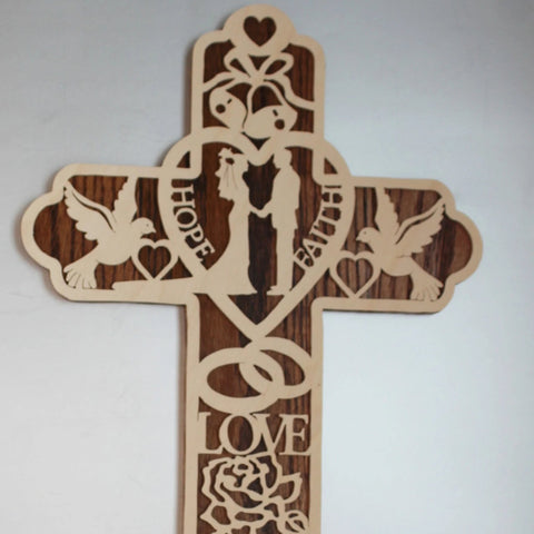 Wedding Cross Made Of Wood