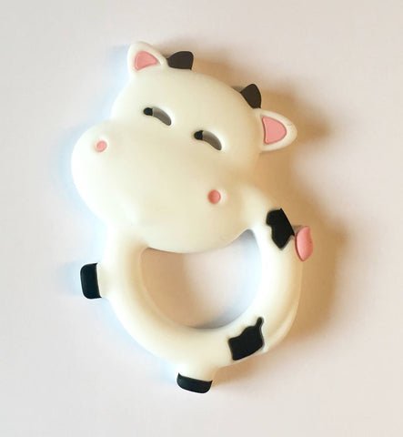 Cow Teether, White