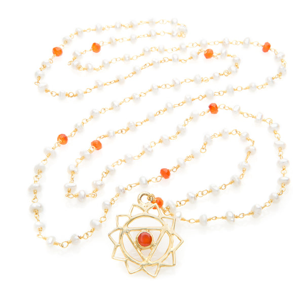 Manipura Chakra Pendant Necklace - The Sattva Collection
