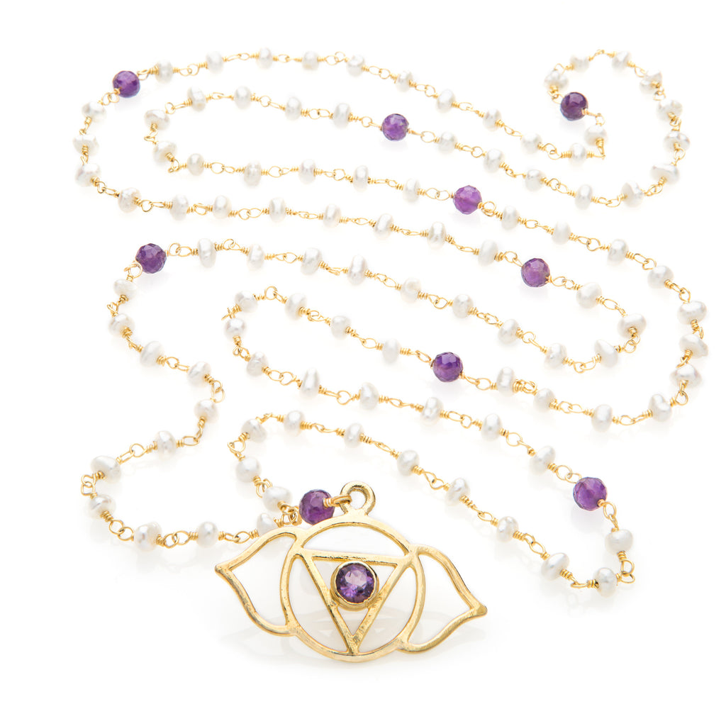 Agya Chakra Pendant Necklace - The Sattva Collection