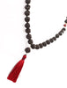 Lavastone Mala with Ruby counter beads