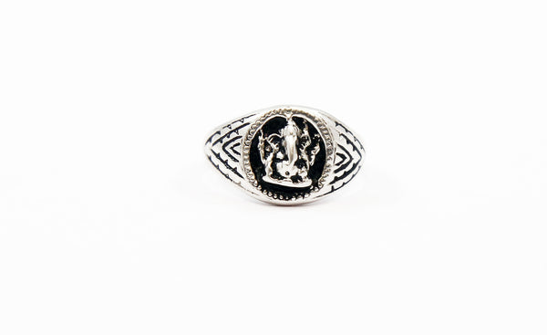 Ganesha Ring Sterling Silver - The Sattva Collection